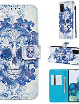 cheap -Case For Samsung Galaxy Samsung Galaxy A50s / Samsung Galaxy A30s / Samsung Galaxy A10s Wallet / Card Holder / with Stand Full Body Cases Skull PU Leather