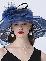 cheap -Vintage Style Fashion Tulle / Organza Hats / Headwear with Bowknot / Flower / Trim 1 Piece Wedding / Outdoor Headpiece