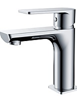 cheap -Bathroom Sink Faucet - Standard Chrome Centerset Single Handle One HoleBath Taps