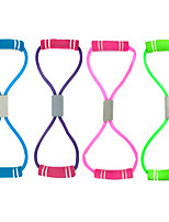 cheap -Exercise Resistance Bands Figure 8 Exercise Cord Rubber Bands 1 pcs Sports TPR Yoga Pilates Exercise & Fitness Adjustable Durable Full Body Strength For Men Women