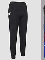 cheap -Women's High Waist Yoga Pants Winter Pocket Solid Color Burgundy Blue Black Dark Blue Gray Running Fitness Gym Workout Bottoms Sport Activewear Breathable Quick Dry Soft High Elasticity Loose