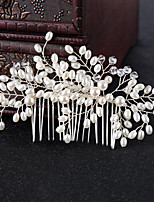 cheap -Women's Hair Combs Hair Jewelry For Wedding Engagement Party Wedding Geometrical Crystal Alloy White 1pc