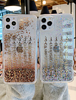 cheap -Case For Apple iPhone 11 / iPhone 11 Pro / iPhone 11 Pro Max Shockproof / Flowing Liquid / Pattern Back Cover Word / Phrase PC