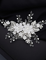 cheap -Women's Hair Combs For Wedding Anniversary Gift Formal Crystal Rhinestone Alloy Silver 1pc