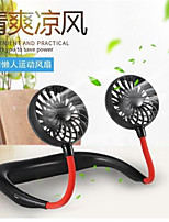 cheap -2020 New USB Portable Fan Mini Neck Fan Rechargeable Small Portable Sports Fan light Usb Desk Hand Air Conditioner Cooler