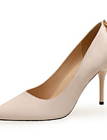 cheap -Women's Heels Stiletto Heel Pointed Toe Rhinestone Satin Sweet / Minimalism Spring &  Fall Black / Almond / Red / Wedding / Party & Evening