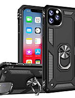 cheap -Case For Apple iPhone 11 / iPhone 11 Pro / iPhone 11 Pro Max Shockproof / Ring Holder Back Cover Solid Colored TPU / PC / Metal