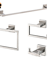 cheap -Cool Bathroom Accessory Set / Towel Bar / Toilet Paper Holder New Design / Creative Contemporary / Modern Stainless Steel  4pcs Wall Mount