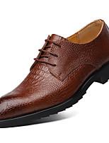 cheap -Men's PU Spring & Summer Classic Oxfords Walking Shoes Gradient Black / Yellow