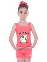 cheap -Gymnastics Suits Gymnastics Leotards with Shorts Girls' Kids Shorts Spandex High Elasticity Breathable Unicorn Sleeveless Training Ballet Dance Gymnastics Black