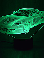 cheap -1Pc Usb Power Abstract Art 3D Lights Colorful Touch Gradient Vision Night Lights Colorful 3D Acrylic Table Lamp&Lamborghini RERA