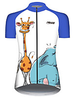 cheap -21Grams Women's Short Sleeve Cycling Jersey 100% Polyester Blue / White Animal Funny Bike Jersey Top Mountain Bike MTB Road Bike Cycling UV Resistant Breathable Quick Dry Sports Clothing Apparel