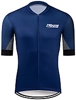 cheap -21Grams Men's Short Sleeve Cycling Jersey 100% Polyester Black / Blue Polka Dot Bike Jersey Top Mountain Bike MTB Road Bike Cycling UV Resistant Breathable Quick Dry Sports Clothing Apparel