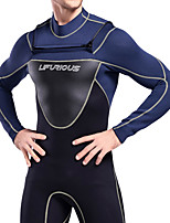 cheap -Men's Full Wetsuit 3mm SCR Neoprene Diving Suit Thermal / Warm Stretchy Long Sleeve Back Zip - Diving Water Sports Patchwork Autumn / Fall Spring Summer / Winter / High Elasticity