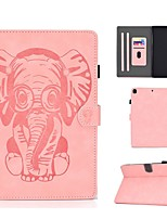 cheap -Case For Apple iPad Air / iPad 4/3/2 / iPad (2018) Card Holder / Flip / Embossed Full Body Cases Solid Colored / Animal PU Leather