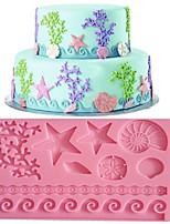 cheap -1pcs Cake DIY Baking Starfish Shell Embossing Mold