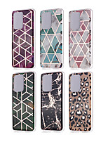 cheap -Case For Samsung scene map Samsung Galaxy S20 S20 Plus S20 Ultra New diamond pattern marble pattern plating process thickened TPU material IMD process all-inclusive mobile phone shell