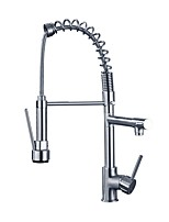 cheap -Kitchen faucet - Single Handle One Hole Electroplated Pull-out / ­Pull-down / Standard Spout Centerset Contemporary Kitchen Taps