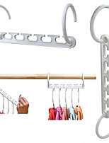 cheap -4pcs Space Saving Magic Clothes Hanger Hanging Chain Plastic Hook Closet Organizer Multi function Clothes Drying Rack Storage Shelves
