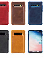 cheap -Leather Case For Samsung Galaxy S9 / S9P/ S10 /S10E/S10 5G/S10P Protective Cover Shockproof Back Cover Solid Colored