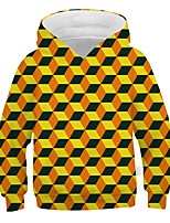 cheap -Kids Boys' Basic Street chic Color Block 3D Print Long Sleeve Hoodie & Sweatshirt Yellow