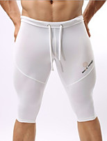 cheap -Men's Normal Polyester Sexy Long Johns Solid Colored Mid Waist