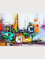 cheap -Hand Painted Canvas Oilpainting Abstract People Home Decoration with Frame Painting Ready to Hang