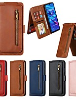 cheap -Case For Huawei  P30 Pro / P30 lite / P20 Pro  Wallet / Card Holder / Shockproof Full Body Cases Solid Colored PU Leather Case For Huawei  P20 Lite / P Smart Z /  P Smart Plus (2019) / P Smart (2019)