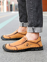 cheap -Men's Leather Shoes Suede Spring & Summer / Fall & Winter Preppy Loafers & Slip-Ons Walking Shoes Waterproof Black / Light Yellow / Brown