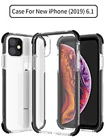 cheap -Case For Apple iPhone 11 / iPhone 11 Pro / iPhone 11 Pro Max Transparent Back Cover Transparent / Solid Colored Silica Gel