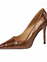 cheap -Women's Heels Stiletto Heel Pointed Toe Faux Leather Casual / Minimalism Spring / Summer Black / Wine / Champagne