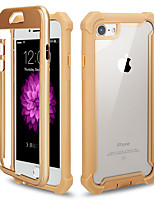 cheap -Case For Apple iPhone 6s Plus / iPhone 6s / iPhone 6 Mirror Back Cover Solid Colored Tempered Glass / Metal