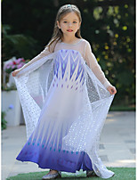 cheap -Princess Elsa Dress Flower Girl Dress Girls' Movie Cosplay A-Line Slip Halloween Christmas White Dress Christmas Halloween