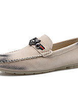 cheap -Men's Pigskin Fall / Spring & Summer Casual / British Loafers & Slip-Ons Breathable Blue / Black / Beige