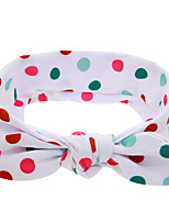 cheap -Kids / Toddler / Newborn Unisex / Girls' Active / Basic / Sweet Polka Dot Polka Dots Cotton Hair Accessories White / Red / Rainbow One-Size