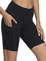 cheap -Women's High Waist Yoga Shorts Solid Color Black Running Fitness Shorts Sport Activewear Quick Dry Butt Lift Tummy Control High Elasticity