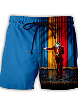 cheap -Men's Swim Shorts Swim Trunks Bottoms Breathable Quick Dry Swimming Water Sports 3D Print Summer / Micro-elastic