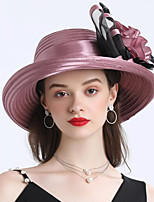 cheap -Vintage Style Fashion Tulle / Organza Hats / Headwear with Feather / Bowknot / Flower 1 Piece Wedding / Outdoor Headpiece