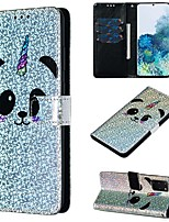 cheap -Case For Samsung Galaxy A50/Galaxy Note 10 / Galaxy Note 10 Plus Wallet / Card Holder / with Stand Full Body Cases Panda PU Leather For Galaxy S20/S20 Plus/S20 Ultra/A50S/A30S/A71