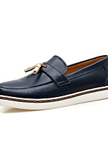 cheap -Men's Nappa Leather Spring & Summer / Fall & Winter Business / Casual Loafers & Slip-Ons Breathable Black / White / Burgundy / Tassel