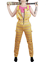 cheap -Harley Quinn Outfits Women's Movie Cosplay Cosplay Golden Christmas Halloween Carnival Terylene / Sleeveless
