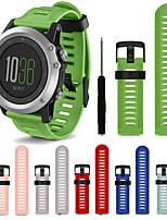 cheap -Watch Band for Fenix 5x / Fenix 3 HR / Fenix 3 Garmin Modern Buckle Silicone Wrist Strap