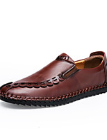 cheap -Men's PU Fall / Spring & Summer Casual / Chinoiserie Loafers & Slip-Ons Walking Shoes Breathable Light Brown / Dark Brown / Khaki