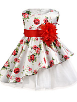 cheap -Kids Girls' Floral Dress White
