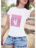 Недорогие -Вдохновлен Любовь и мир Косплей Косплэй Kостюмы Как у футболки Полиэстер С принтом Рисунок Футболка Назначение Жен.
