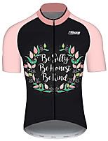 cheap -21Grams Men's Women's Short Sleeve Cycling Jersey 100% Polyester Pink Floral Botanical Bike Jersey Top Mountain Bike MTB Road Bike Cycling UV Resistant Breathable Quick Dry Sports Clothing Apparel
