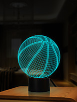 cheap -3D Optical Illusion Night Light 7 LED Color Changing Lamp Cool Soft Light Safe For Kids Solution Nightmares Basketball Sport for Child Friends