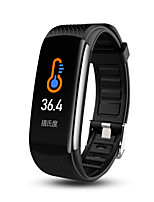 cheap -C6T Body Temperature Smart Bracelet Watch IP67 Waterproof Heart Rate Monitor Smartband Wristband Fitness Health Tracker