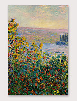 cheap -IARTS®Hand Painted Wild flower Oil Painting   with Stretched Frame For Home Decoration
