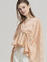 cheap -Women's Daily Blouse - Striped Blushing Pink